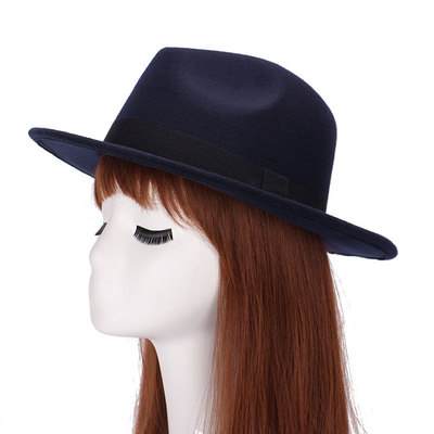 bc44bcea768 Dropwow 2017 New GD Style Soft Women Vintage Wide Brim Wool Felt ...