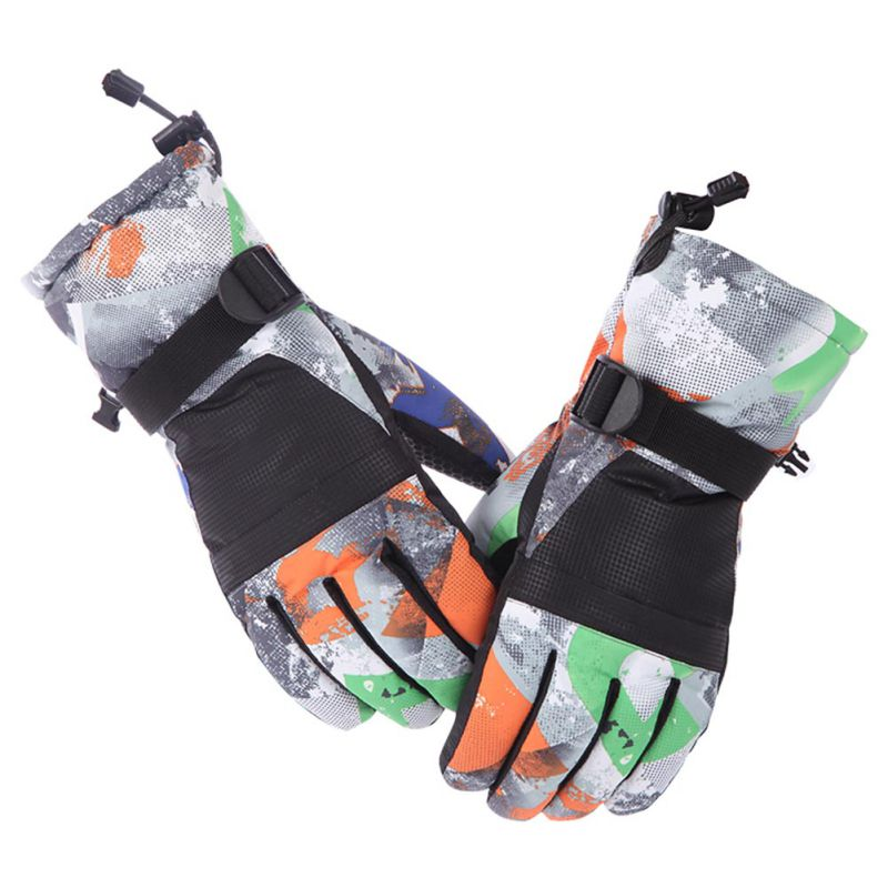 Balight Men Women Ski Gloves Waterproof Warm Gloves Cycling Snow Snowmobile Motorcycle Snowboard Winter Outdoor Skiing Gloves