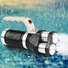 On sale 2017 NEW Rechargeable LED Searchlight Tactical Flashlight 3T6 Spotlight 9000 Lumens S98