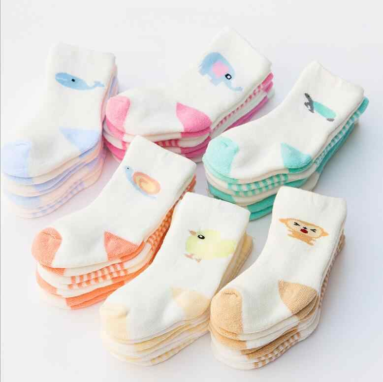 4 Pieces/ Lot Baby Boys Girls Socks Cotton Winter Warm Newborn Infant Toddler Cute Animal Printed Sock Children Kids For 0-3Y