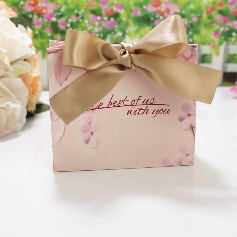10 Uds. Bolso de caramelo de lujo de la familia europea francés gracias caja de recuerdos de regalo para boda paquete bolsas de Favor de la fiesta de cumpleaños