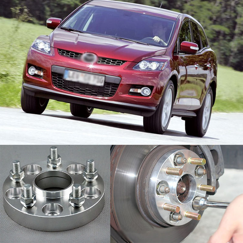 Teeze 4pcs New Billet 5 Lug 12*1.5 Studs Wheel Spacers Adapters For Mazda CX-5/CX-7/MX-5/RX-8/ Mazda3/Mazda 5/Mazda 6 2 pieces of specialized in the production of wheel adapters spacers 4 x100 for ford fiesta mazda 2 suzuki swift