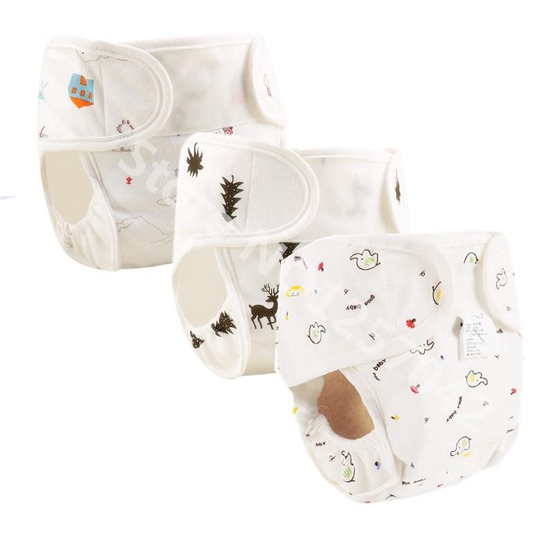 Хлопок дестские подгузники многоразовые стираемые тканевые подгузники, трусики на подгузник, Водонепроницаемый новорожденных Детские тре...