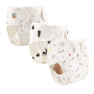 Cotton Baby Nappies Diaper Reusable Washable Cloth Diapers Nappy Cover Waterproof Newborn Baby Traning Panties Diapers Pocket(China)