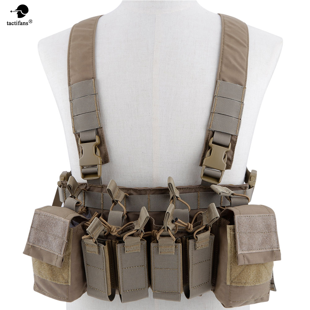 Army Tactical D3 Chest Rig Vest Carrier Armor Harness Rifle Pistol Magazine Pouch CRX Hunting Equipment