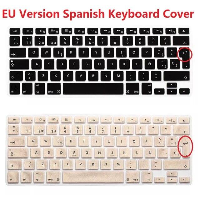 Solque Eu Euro Version Es Esp Spanish Keyboard Cover For Macbook Air
