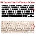 Versión de la ue euro es esp teclado español para macbook air Pro Retina 13 15 Del Silicón Del Ordenador Portátil Protector de La Piel Para El iMac
