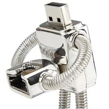 Logam Robot Disk Pada Kunci Creativo Usb Flash Drive 64 GB 128 GB 2 TB 2.0 Pen Drive 1 TB Pendrives Kartu Memori Mini Usb Tongkat Kunci 64 GB(China)