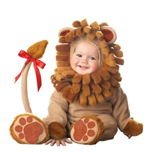 Baby Babies Toddler Halloween Lil Lion King of Jungle Animal Babygrow Fancy Dress Outfit Costume