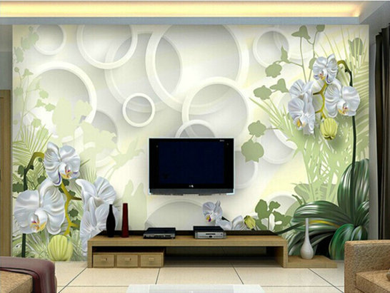 Tv 3d Personality Circle Sofa Large Wallpaper Seamless
