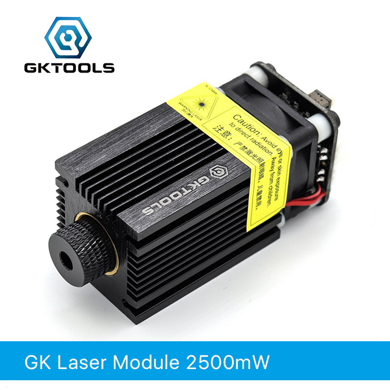FB03 2500mW 445nm 12V Blue Laser Module 2.54-3P TTL/PWM Modulation For Laser Engraver Can Control Laser Power Focusable GKTOOLS