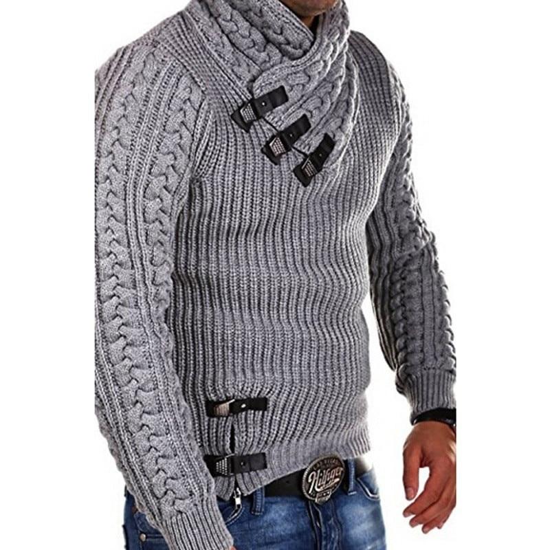 BDLJ 2019 New Mens Wool Sweater Pullover Long Sleeve Turtleneck Sweater Jumper Knitwear Winter Casual Cashmere Outerwears Male