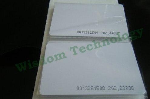 bilder für Freies Verschiffen 200 Teile/los Proximity Card125KHZ Rfid-karte EM4100/4102 Pvc-karte