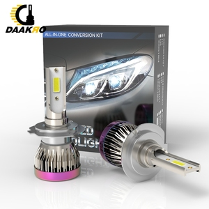 Image 2 - 2PCS Auto Scheinwerfer Mini Lampe H8 H9 H11 9005 H1 H7 Led lampen Scheinwerfer 6000k Nebel licht 12V Lampe 8000LM Kopf Licht Nach Maß