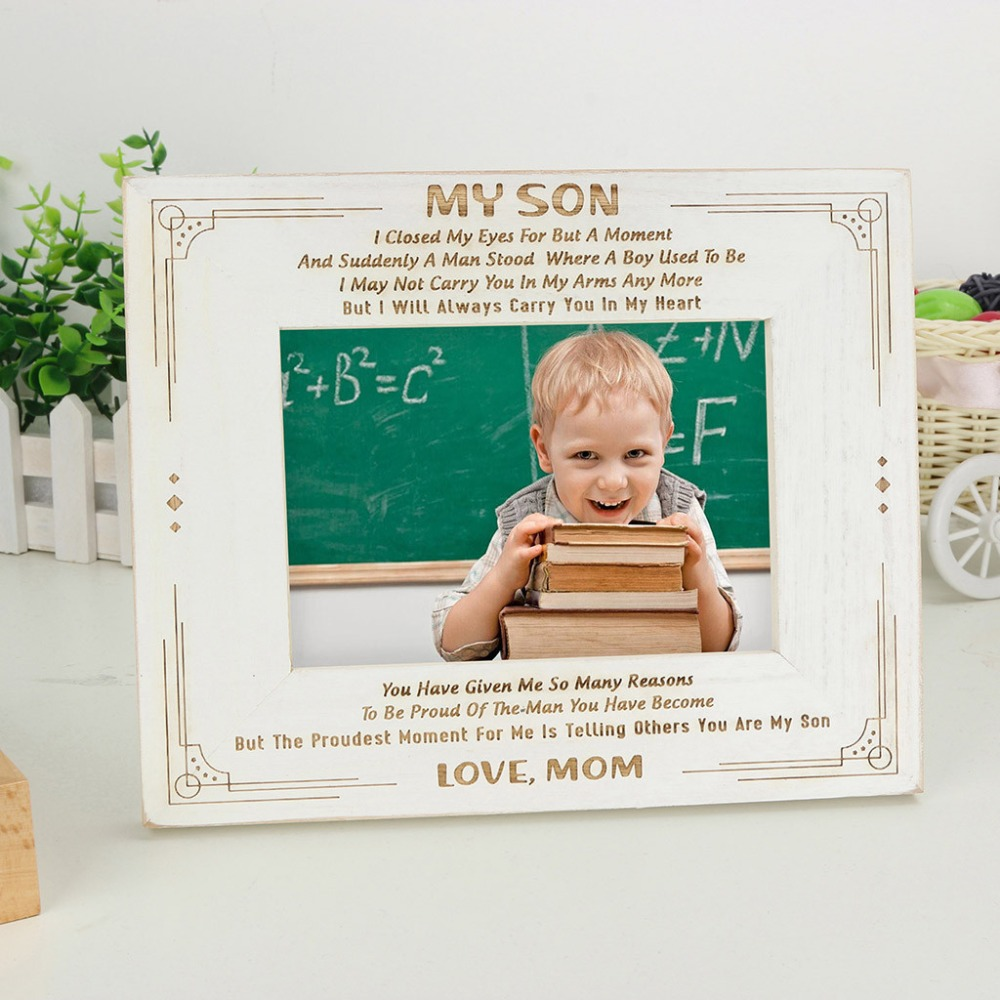 1 Pcs Family Vintage Photo Frame Wooden 5 inch Pictures Frames Home Desk Decoration Art Wedding Vintage DIY Family Frames s007