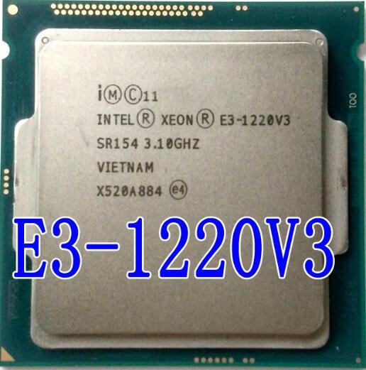 Intel Xeon E3-1220 E3 1220 V3 V3 LGA1150 Processador CPU 3.1 GHz 8 MB 4 Core SR154 E3 1220 V3