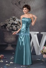 free shipping 2013 new design hot sale long pleat handmade sweetheart evening gowns custom made size/color tafetta dress