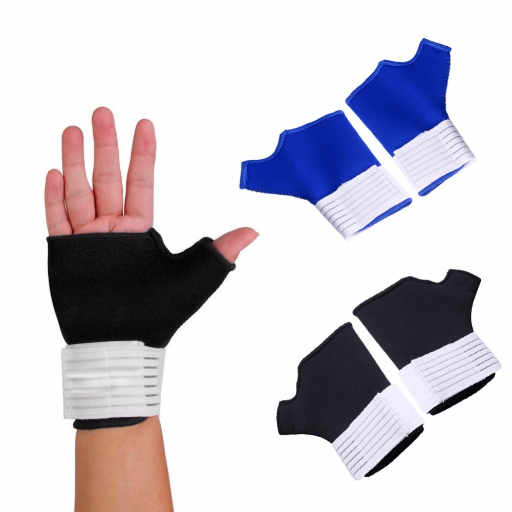 1 Pair Nylon Wrist Brace Support Thumb Wrap Hand Palm Splint Arthritis Relief Gloves Sleeves Sports Safety
