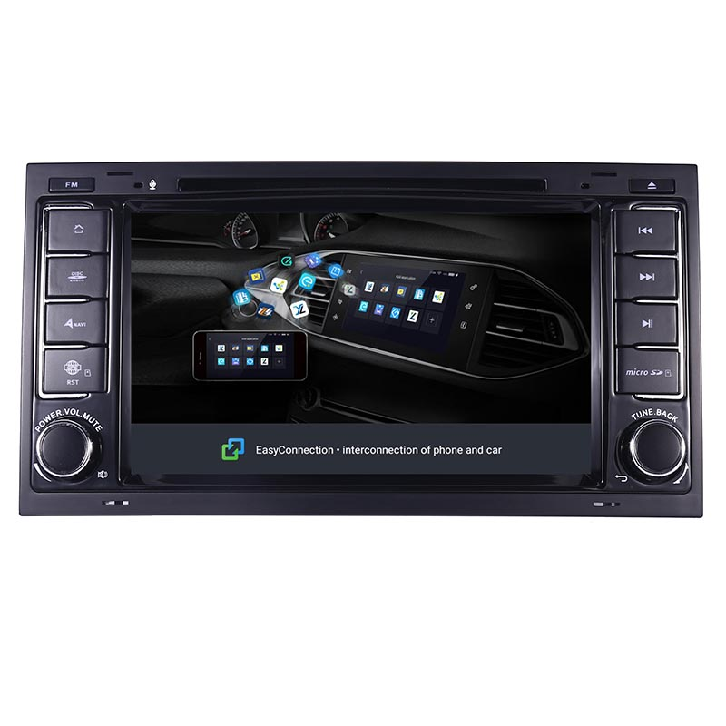 "Image 5 - 7""HD IPS Touch Screen Android 9.0 Car DVD Player for Volkswagen VW Touareg T5 Transporter Multivan 2004 2011 Radio audio stereo-in Car Multimedia Player from Automobiles & Motorcycles"