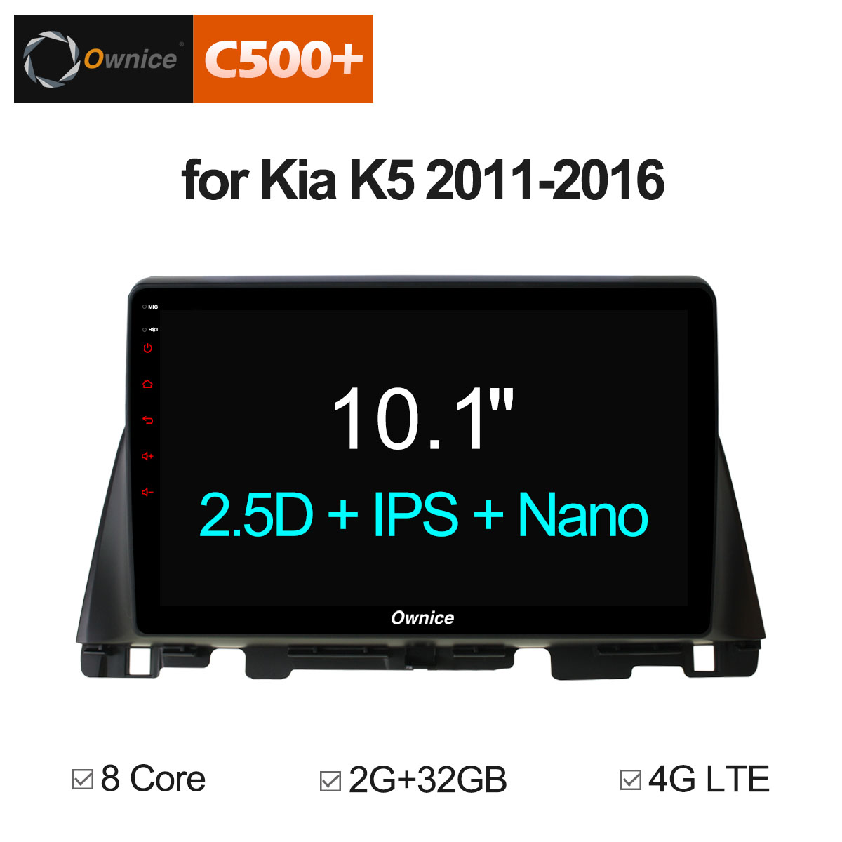 Ownice C500+ G10 10.1 2GB RAM Octa Core Android 8.1 Car DVD Stereo Radio GPS Player For KIA K5 OPTIMA 2011 - 2016 2017 4G SIM ownice c500 4g sim lte octa 8 core android 6 0 for kia ceed 2013 2015 car dvd player gps navi radio wifi 4g bt 2gb ram 32g rom