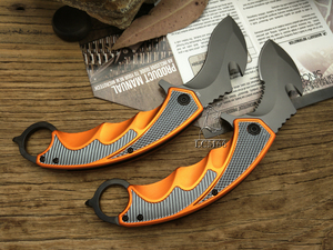 Image 3 - LCM66 Karambit Folding Knife, Fox claw knife csgo Gift Tactical Pocket Knife,outdoor camping jungle survival battle self defense