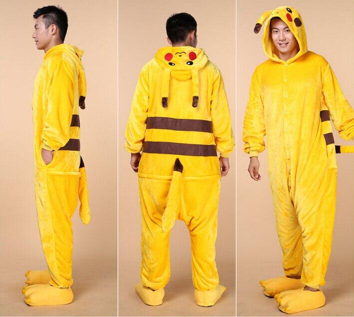 onesies-for-adults-font-b-pokemon-b-font-unisex-kigurumi-flannel-men's-pajamas-suit-animal-costume