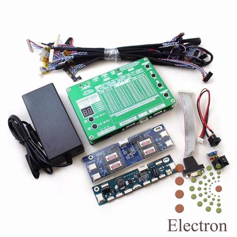 Prix pour Moniteur D'ordinateur Portable TV LCD LED Panneau Testeur kit Pour Ordinateur TV D'aide à la réparation 7-84 ''60 Programmes w/VGA DC LVDS Câbles Onduleur