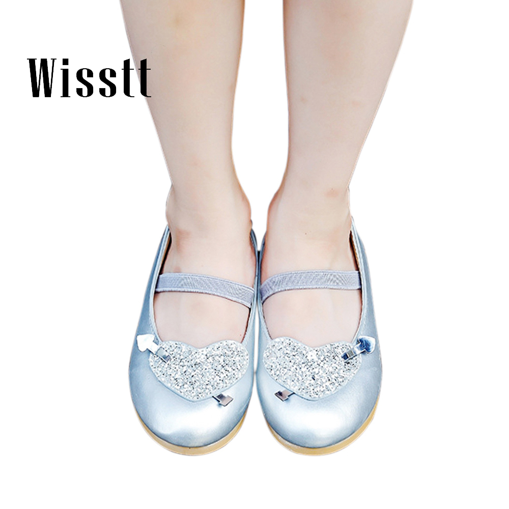 2018 Newest Children Princess Shoes Girls Sequins Girls Wedding Party Flat Shoes Kids Dress Shoes For Girls