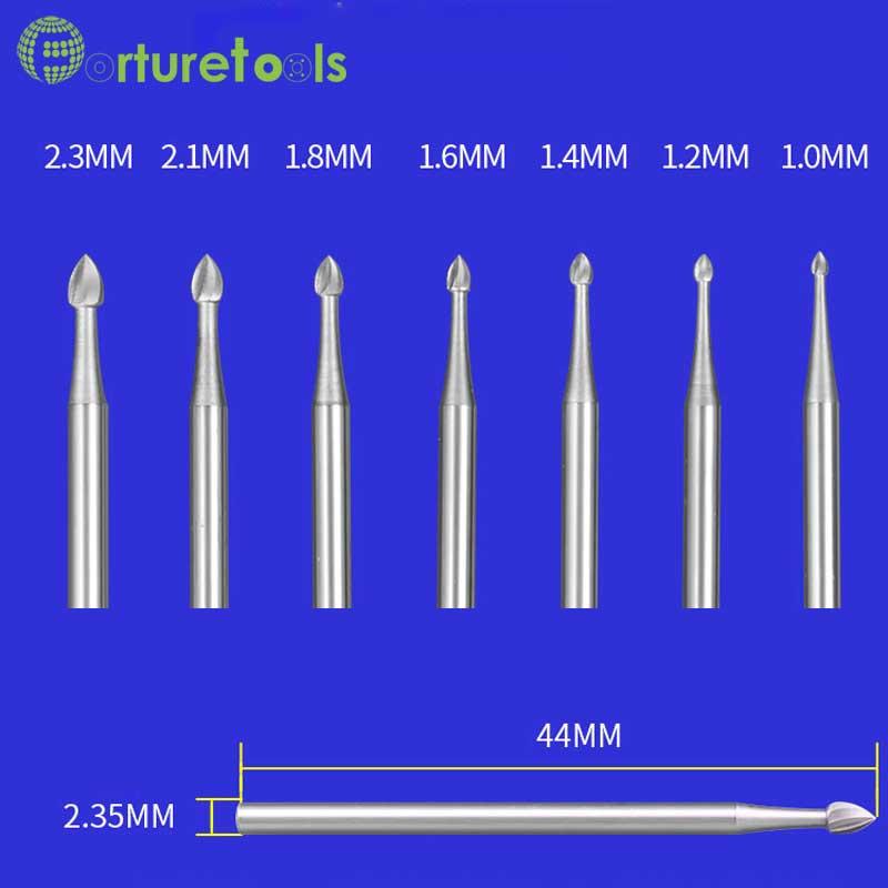 D-tüüpi volframist nikerdusriistad Router Bits dremel Rotary - Abrasiivtööriistad - Foto 6