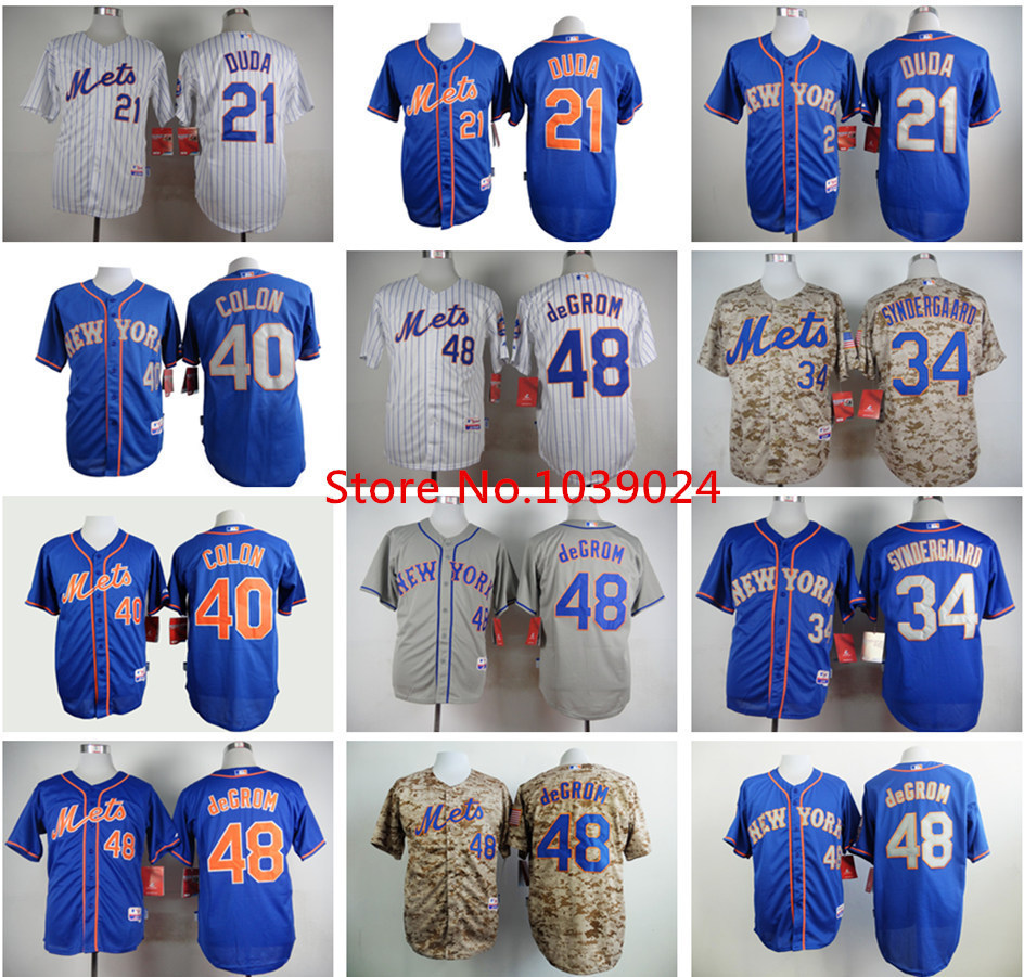 big sale 6701e 18d75 48 Jacob deGrom Jersey New York Mets 21 Lucas Duda Baseball ...