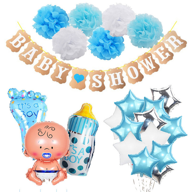 Baby Shower Party Decorations Set It s a Boy Girl oh baby Balloons Banner Gender Reveal