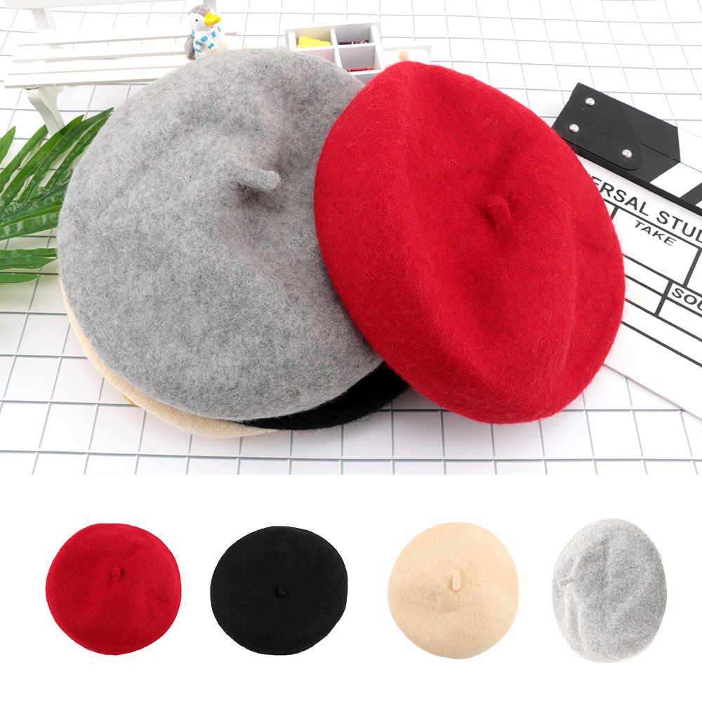 2019 Детские Весенние шапки осень/зима, детские шерстяные береты, новая модная шапка для мальчиков и девочек, детский берет головной убор в французском стиле