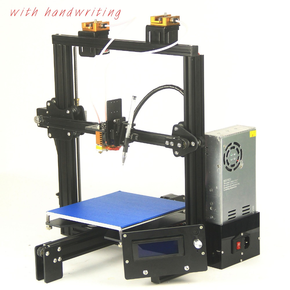 2018 big print size 3D printer two extruder head black ramps plus2 filament ABS PLA E3D dual extruder cheap 3D printer kit xinkebot 3d printer orca2 cygnus dual extruder high resolution big impressora 3d with free filament