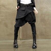 حار بيع manlow الارتفاع السراويل الرجال الحريم السراويل تنورة صغيرة عارضة سراويل طويلة صغيرة مدبب maleharoun السراويل