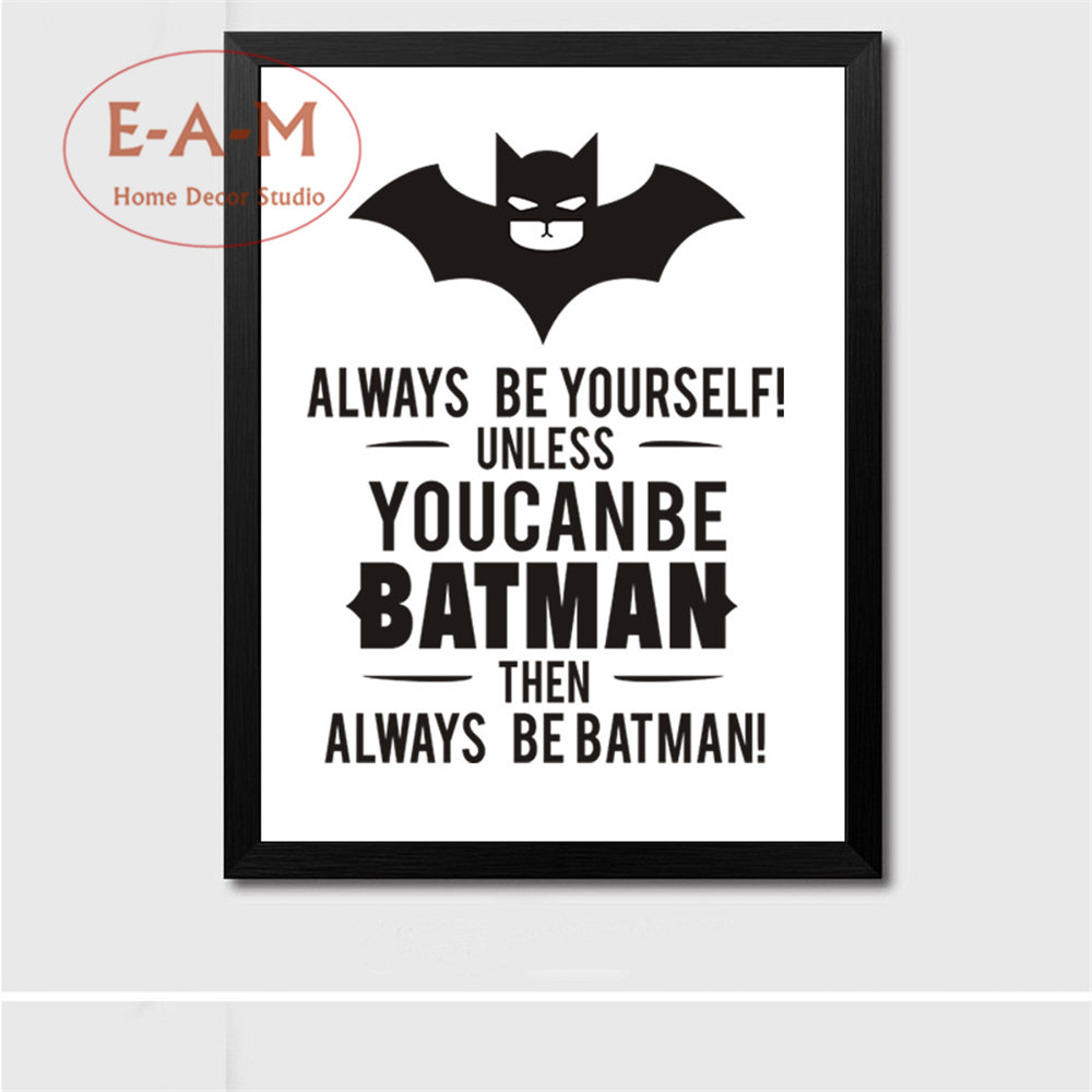 E A M Can Be Batman Quote Canvas Art Print Painting Poster Wall Pictures For Living Room Home Decorative Bedroom Decor No Frame in Painting Calligraphy from Home Garden