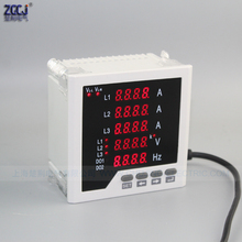 New thing !!! Short depth panel meter 3 phase A V Hz combination panel meter CJ-3UIF35 line digital display multifunction meter op320 a s text panel display 20keys 3 7 192 64 yellow green stn with programming cable new