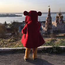 Ins Fashion Coat For Girl Spring Jacket Baby Boy Outerwear Coat Cartoon Bear Ear Hooded Autumn Jacket For Kids Clothes 1-5 Years