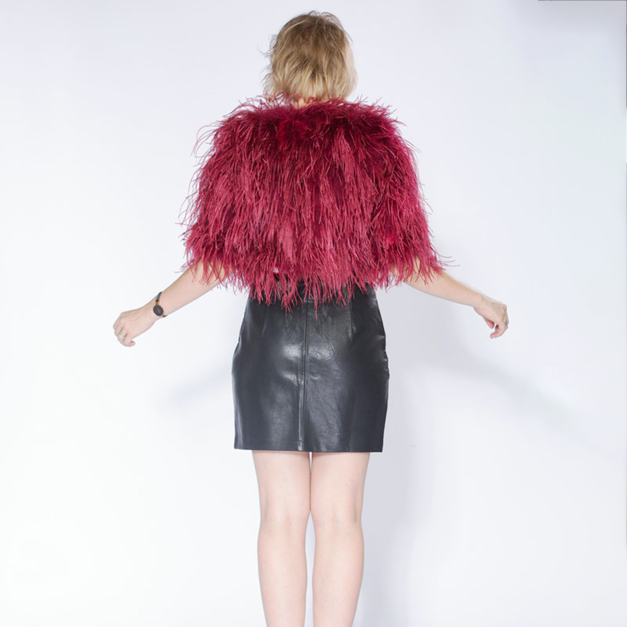 eb358afee3a Hot fashion sexy real ostrich feathers women coat turkey wool short coat  feather fur coat jacket retail / wholesale-in Real Fur from Women's  Clothing on ...
