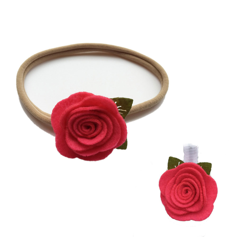 5sets non makring nylon headband accessories and 15inch small felt 5sets non makring nylon headband accessories and 15inch small felt rose hair flower clip set white turquoise red hot pink etc in hair accessories from mightylinksfo