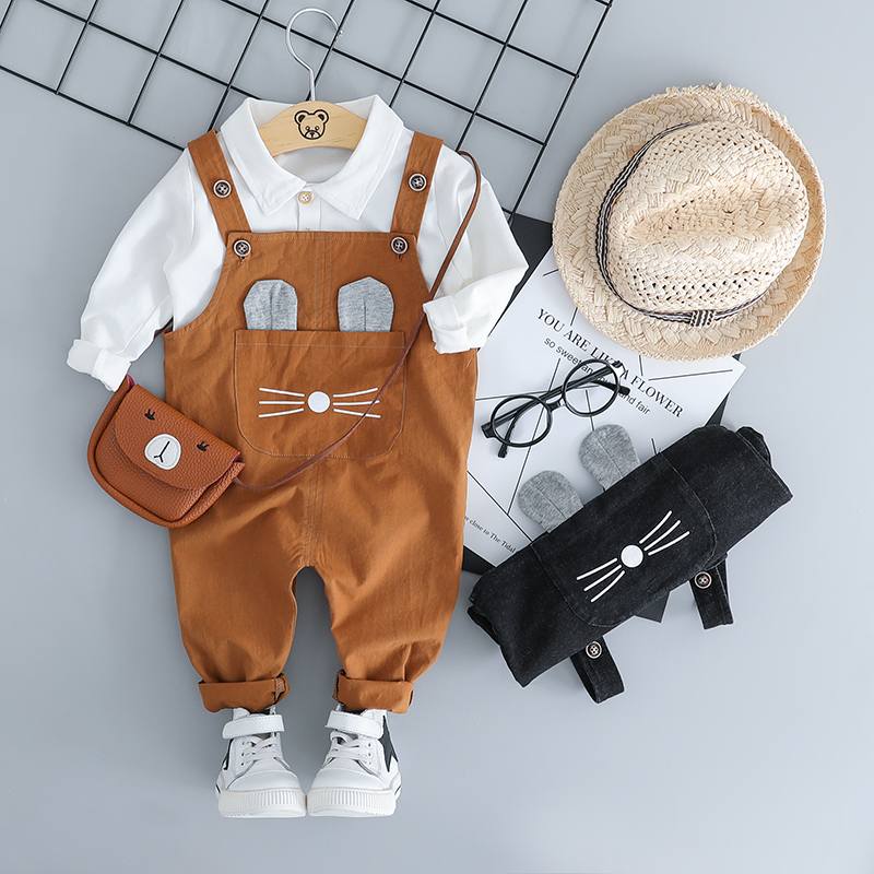 HYLKIDHUOSE 2018 Autumn Toddler Infant Clothing Sets Baby Girls Boys Clothes Suits T Shirt Bib Pants Cartoon Kids Child Costume bibicola spring autumn baby boys clothing set sport suit infant boys hoodies clothes set coat t shirt pants toddlers boys sets