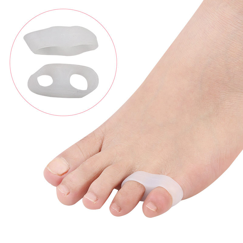 1Pair Hallux Valgus Silicone Correction Gel Foot Care Toe Separator Little Finger Protector Bunion Adjuster Protetor Joanete