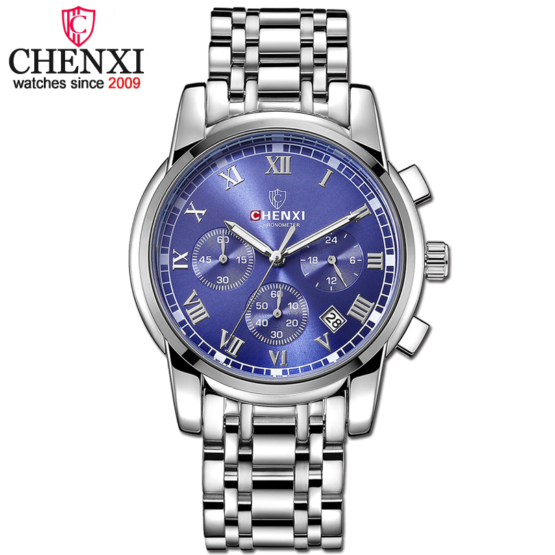 CHENXI Luxury Mens Watches Men Fashion Male Clock Quartz Watch Men's Sport  Full Steel Waterproof Wristwatches Relogio Masculino 2017 new top fashion time limited relogio masculino mans watches sale sport watch blacl waterproof case quartz man wristwatches
