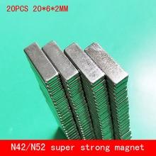 wholesale 20PCS 20*6*2mm strong N42 N52 magnet Neodymium magnets 20x6x2mm