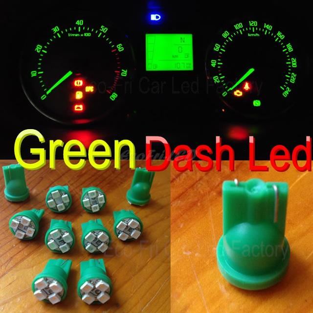 10x Green T10 W5w Smd Led Indicator Dashboard Instrument Panel Lights For Chevrolet Subaru Toyota Ford Nissan Acura Infiniti