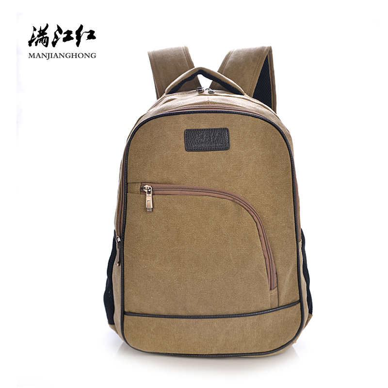 2018 Fashion Mens Backpack Canvas Travel Bag Casual Men Laptop Backpack Bag 14 Inch Larg ...