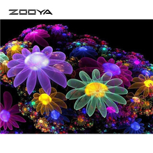 ZOOYA 3D DIY Diamant Malerei strass gesetzt Stickerei abstrakte garn gefärbt Dreidimensionale Kreuzstich blume BB221