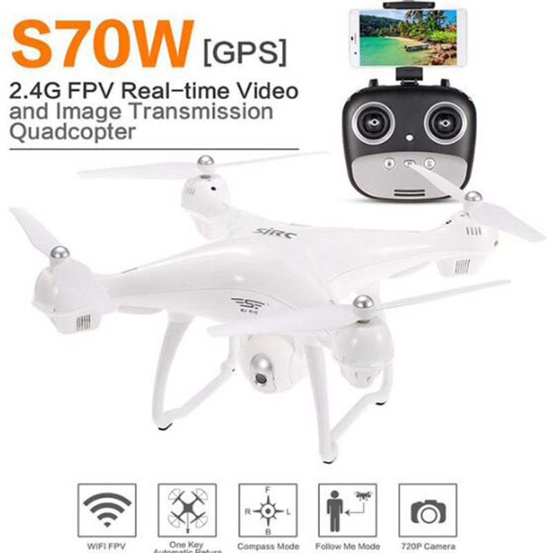 S70W Follow Me GPS FPV RC Drone Quadcopter Helicopter With 1080P HD Wide-Angle Adjustable WiFi Live Video Camera Return Home f11 image