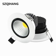Dimmable LED Downlight 7W 10W 12W 15W Spot DownLights cob Recessed down lights for living room