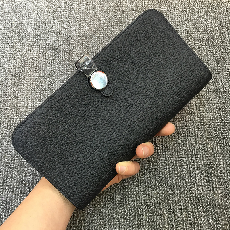 High Quality Long Women Wallets Genuine Leather Ladies Wallets Brand Standard Wallets Female Holder Girl Gift Solid Coin Purses wallets href