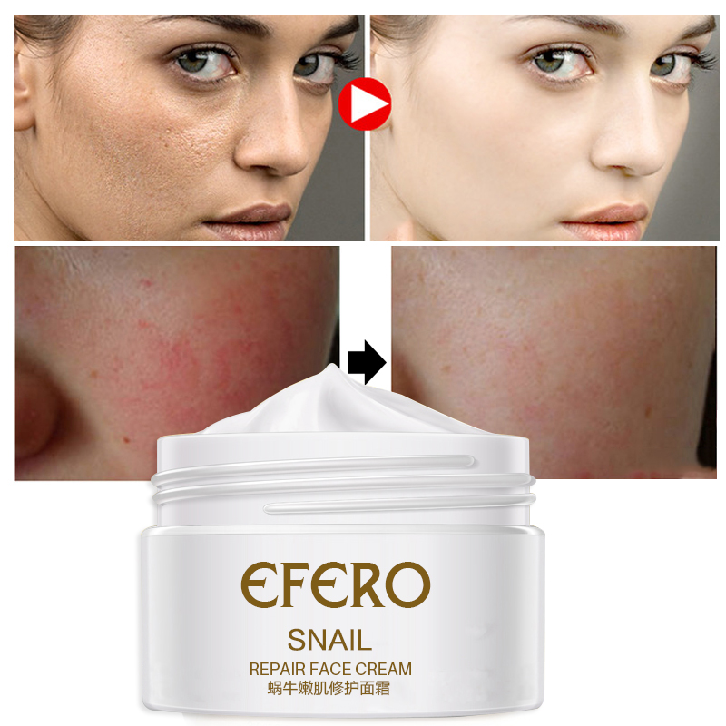efero Snail Cream Face Cream Whitening Moisturizing Serum Face Care Anti Wrinkle Snail Cream for Face Lifting Acne Treatment in Facial Self Tanners Bronzers from Beauty Health